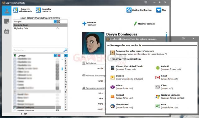 copyTrans_contacts_screenshots copytrans_contacts_export