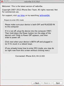 downgraderedsn0w-modepwnedDFU2