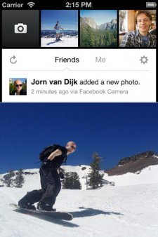 facebook-camera-application-partage-de-photos-par-facebook
