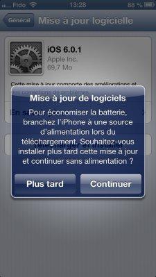 iOS 6.0.1  6.