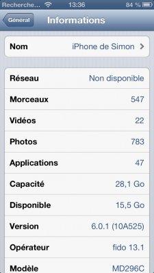 iOS 6.0.1  8.