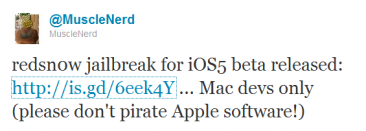 tweet-musclenerd-jailbreak-ios5-beta-1