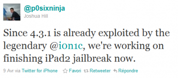 tweet-p0sixninja-jailbreak-ipad-2-greenp0ison